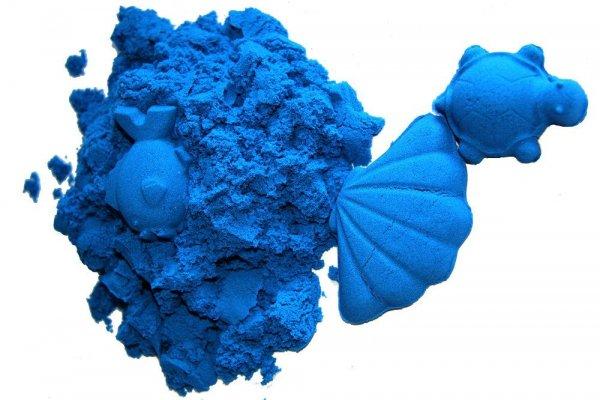 Kinetický písek modrý 2 kg s kbelíkem