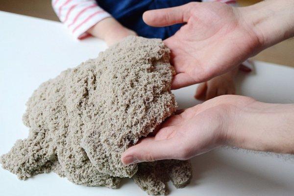 Kinetický písek přírodní 3 kg + kyblík