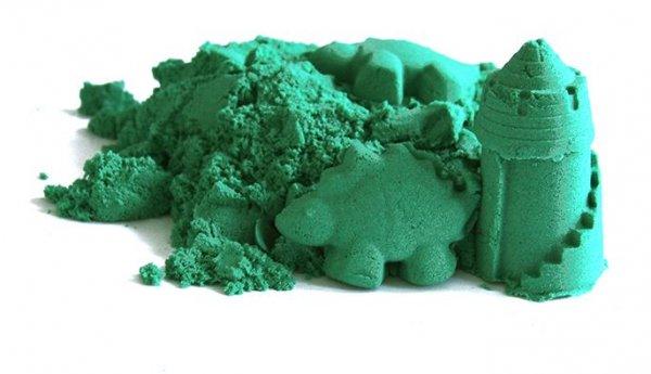Kinetický písek zelený 3 kg + kbelík