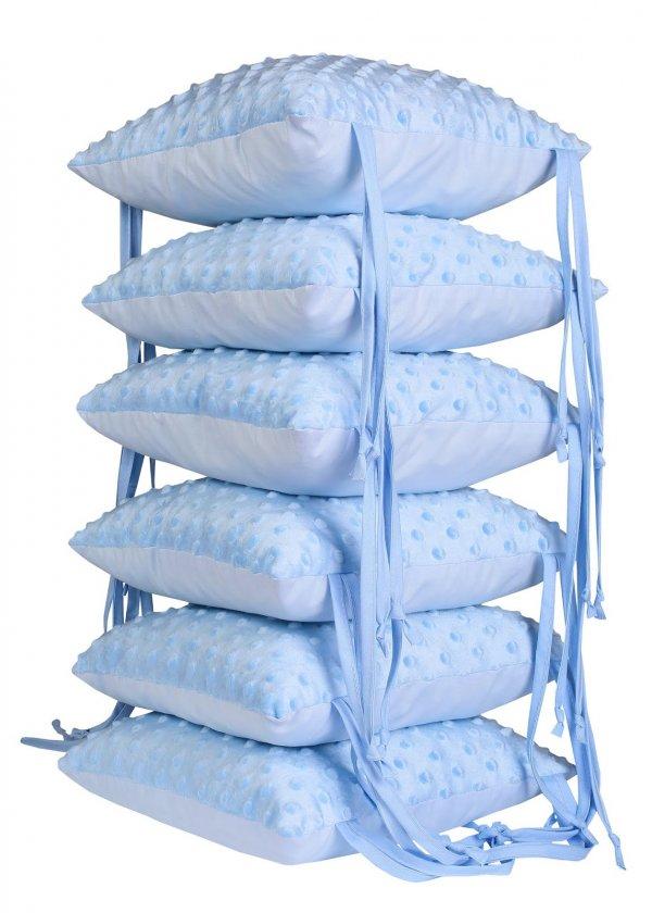 Ochranný mantinel panelový - 6 ks modrý