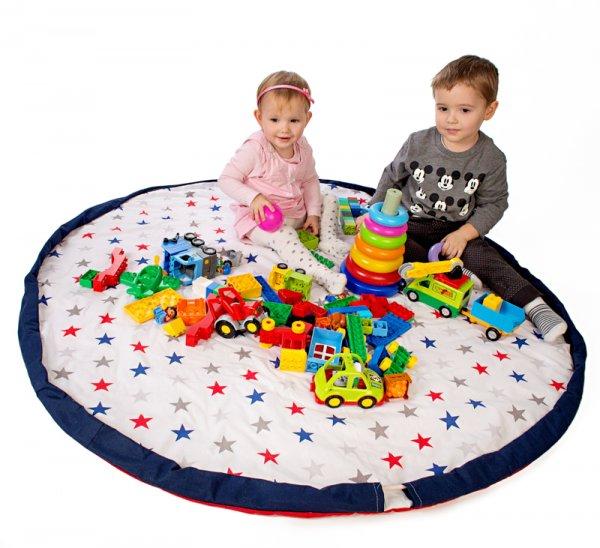 Hrací deka - vak na hračky 130 cm - 16 vzorů