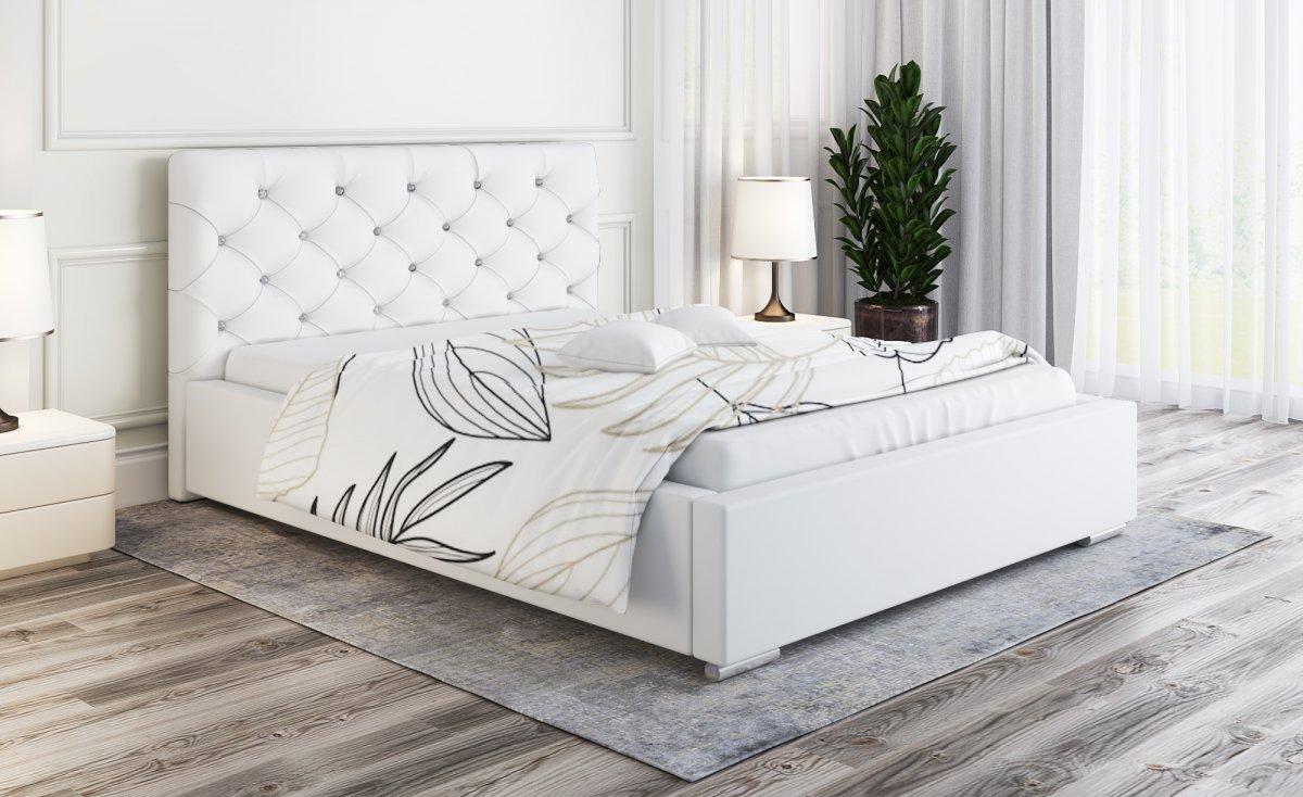 Čalouněná postel Verona 140/200 cm s úložným prostorem madrid -
