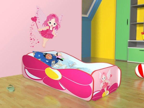 Dětská postel 160/80 cm květina+matrace+dárek