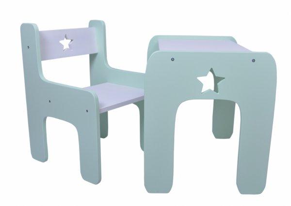 Stůl a židle hvězdička máta