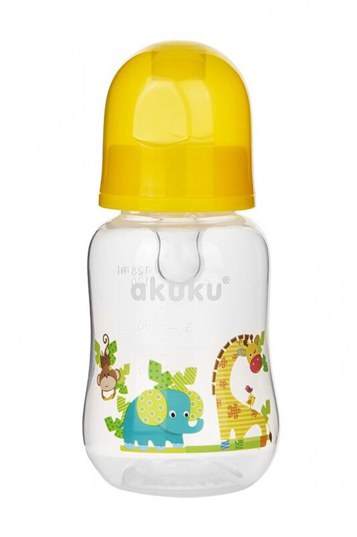 Láhev s obrázkem Akuku 125 ml žirafka