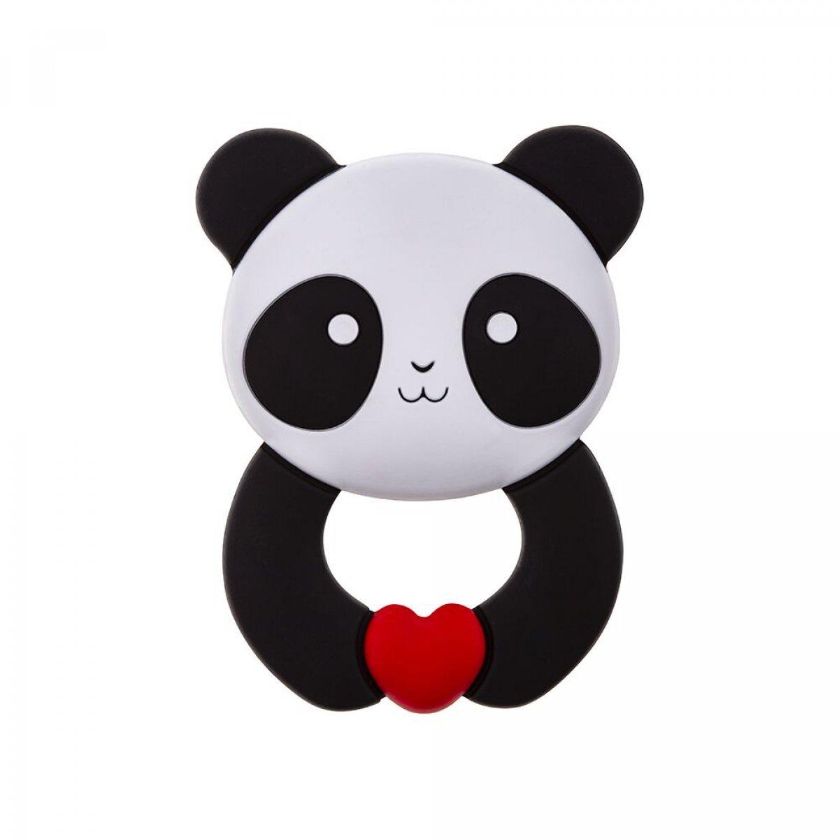 Silikonové kousátko Panda - přívěsek.