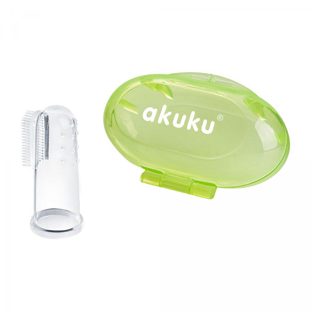 První zubní kartáček s pouzdrem - zelená
