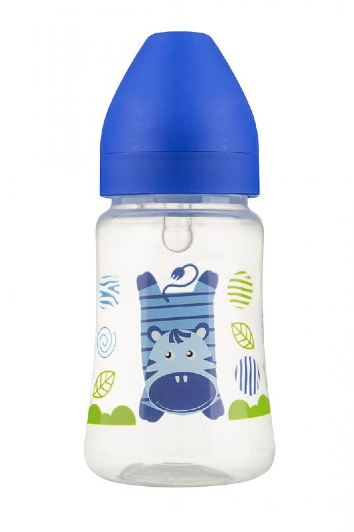 Láhev se širokým hrdlem 250 ml - modrá zebra