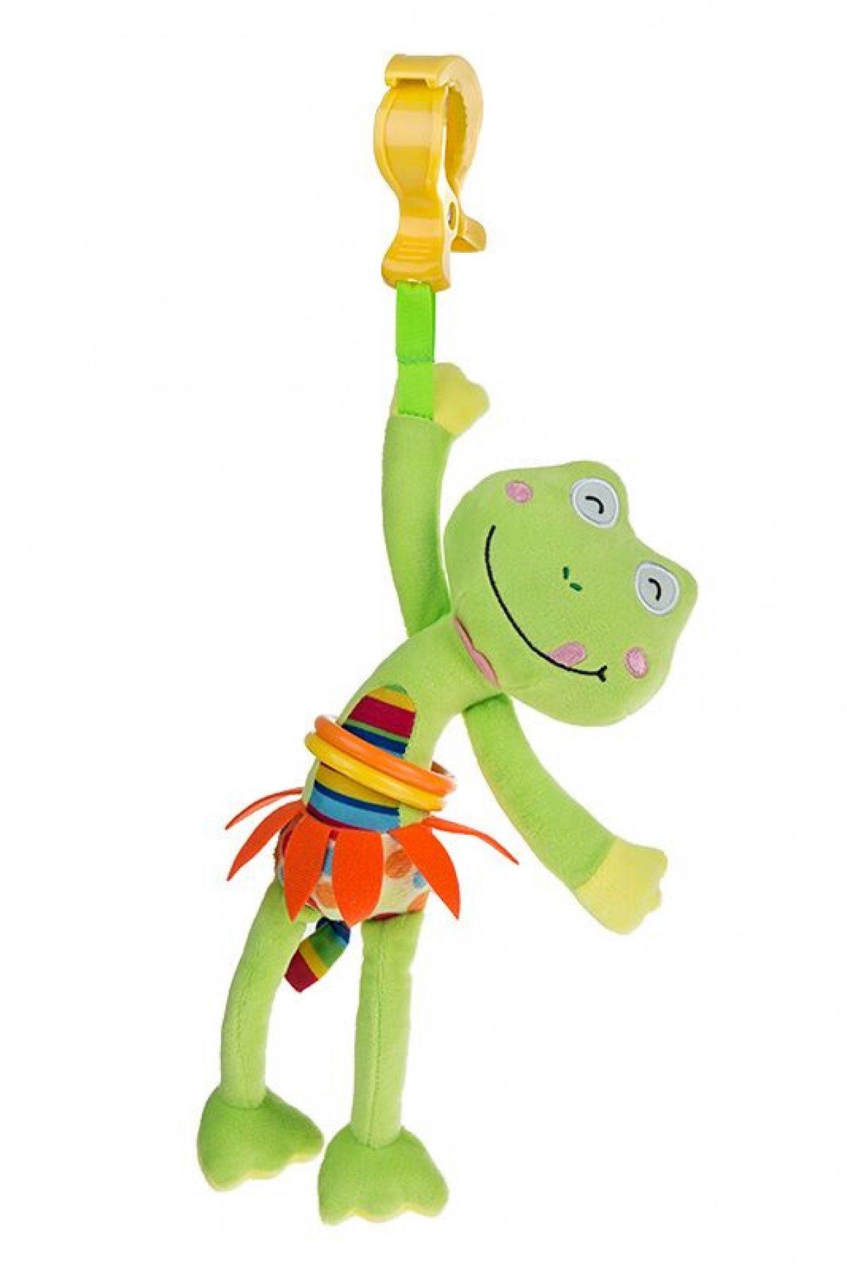 Plyšová hračka s vibrací - žába