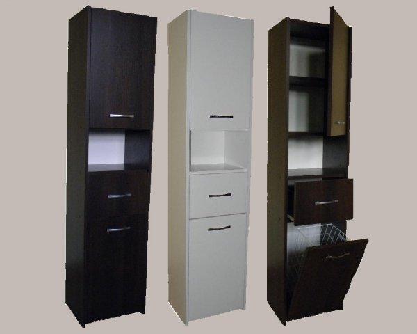 Koupelnová skříň - Aňa 2F + S + koš 30 cm
