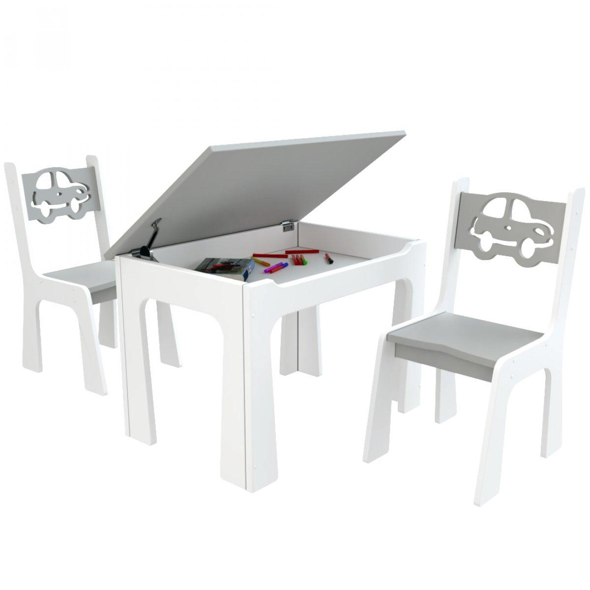 Otevírací stůl + židličky - auta