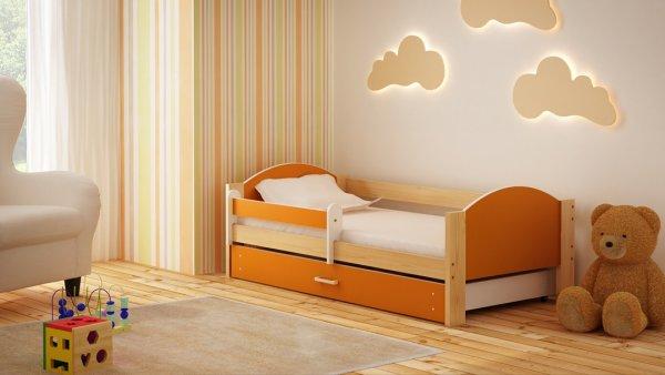 Dětská postel Bořek 160/80 cm se šuplíkem oranž