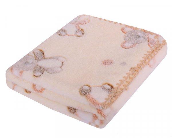 Dětská deka Coral 3D - 80/90 cm béžová