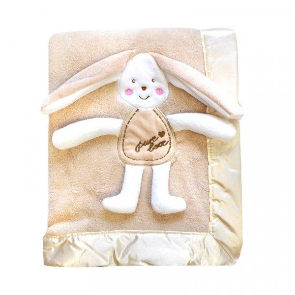 Dětská deka 3D béžová - dárkové balení