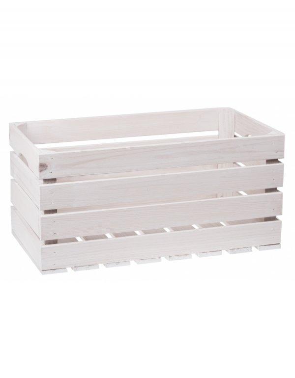 Box dřevěný bílý 50/27/25,5 cm