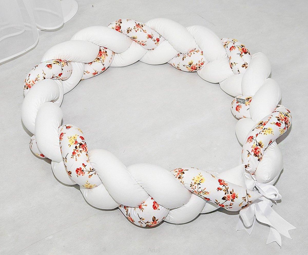 Mantinel cop pletený - divoká růže bílá