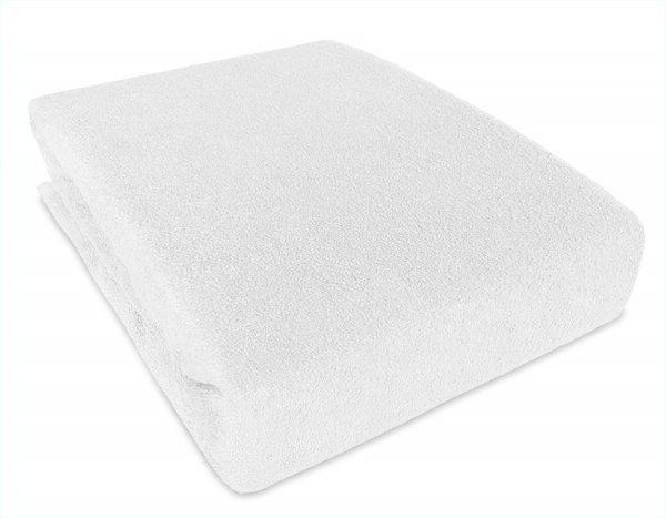 Prostěradlo froté nepropustné PVC 120/60 bílá