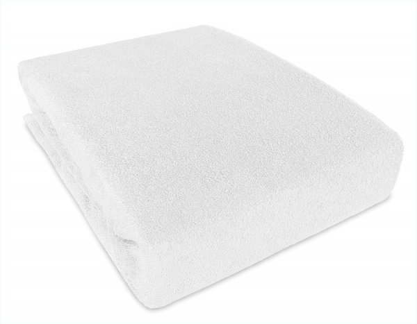 Prostěradlo froté nepropustné PVC 120/60 bílé