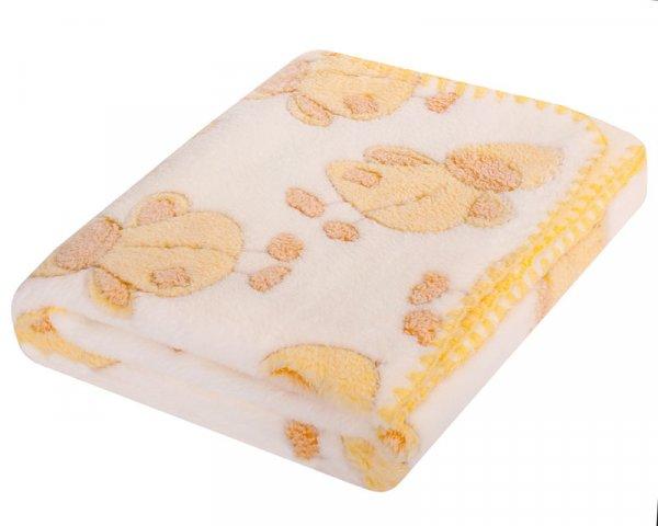 Dětská deka Coral 3D - 80/90 cm bílá