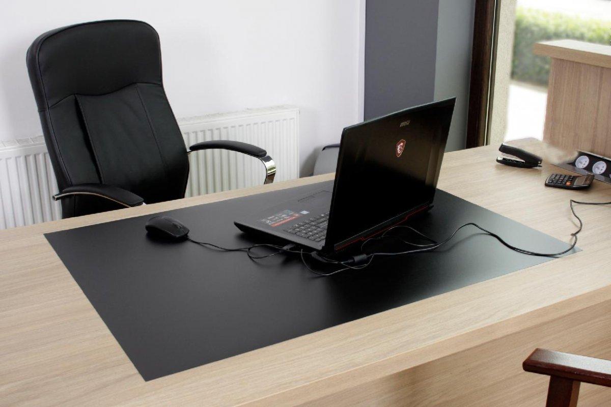 Ochranná podložka pod židli 120x90 cm 0,5 mm černá