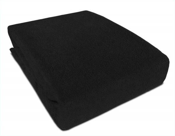 Frote prostěradlo s gumkou 180/200 cm - černá