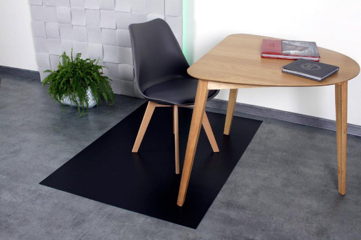 Ochranná podložka pod židli 140x100 cm 0,5 mm černá