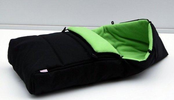 Fusak fleecový K2 černo zelený 1