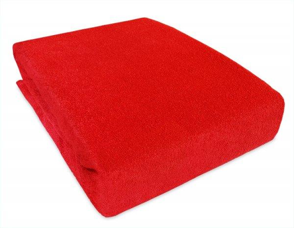 Frote prostěradlo s gumkou 160/200 cm - červená
