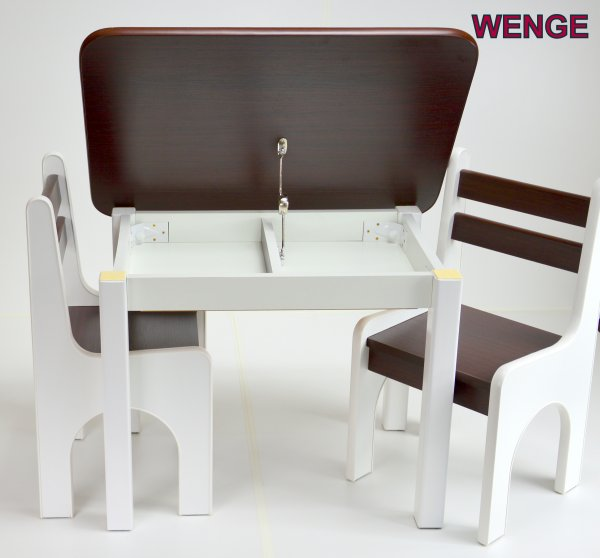 Stůl a dvě židličky K1 - wenge