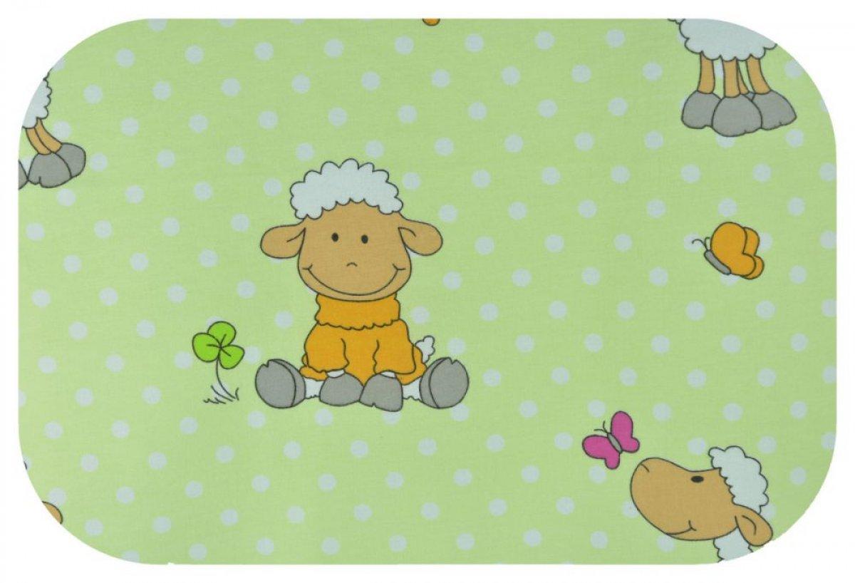 Plena flanel potisk - zelené ovečky