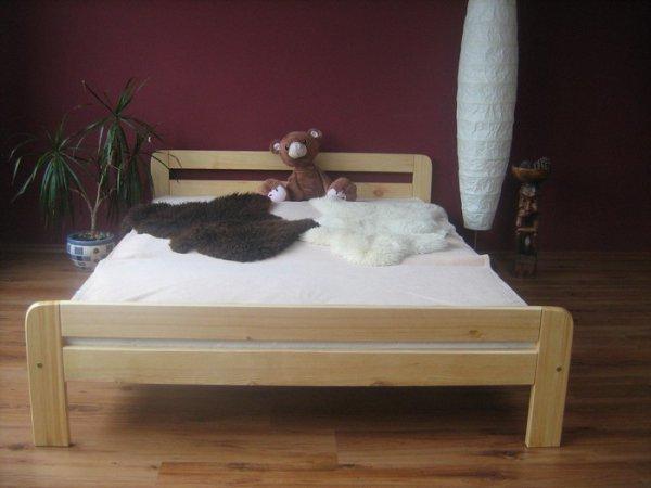 Postel Teddy 180 x 200 cm masiv borovice