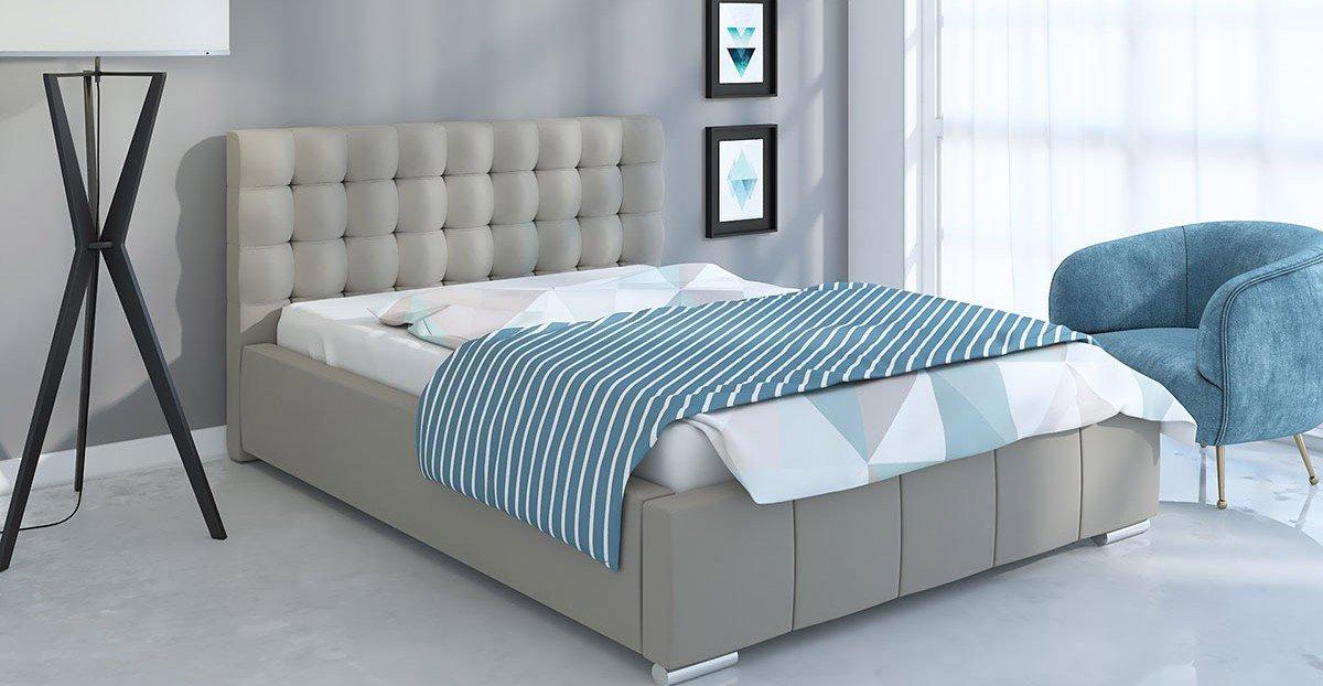 Čalouněná postel Napoli 140/200 cm s úložným prostorem jasmine