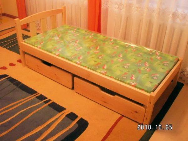 Postel Kajtek + matrace + šuplíky + rošty 80x200 cm
