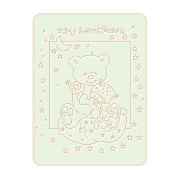 Dětská plyšová deka méďa - béžová