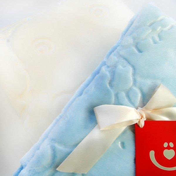 Dětská plyšová deka méďa modrá