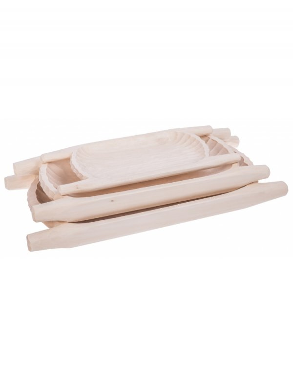 Dřevěná korýtka 3 kusy