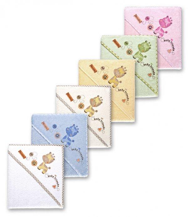 Dětská osuška froté s kapucí žirafka - 6 barev