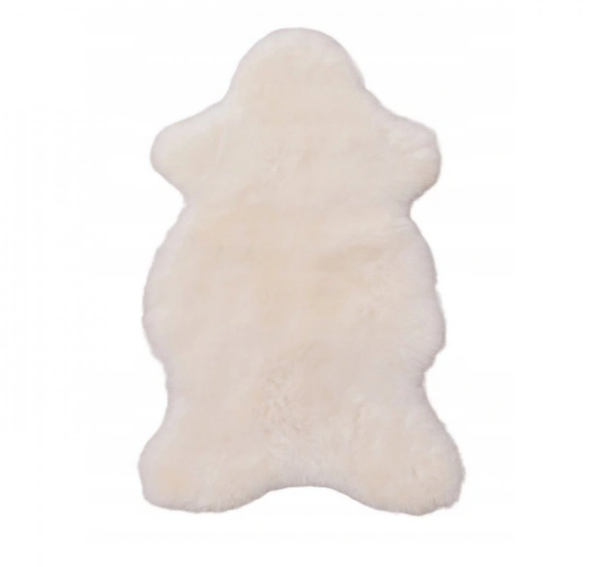 Ovčí kožešina 100% přírodní 100-120 cm bílá krátký vlas
