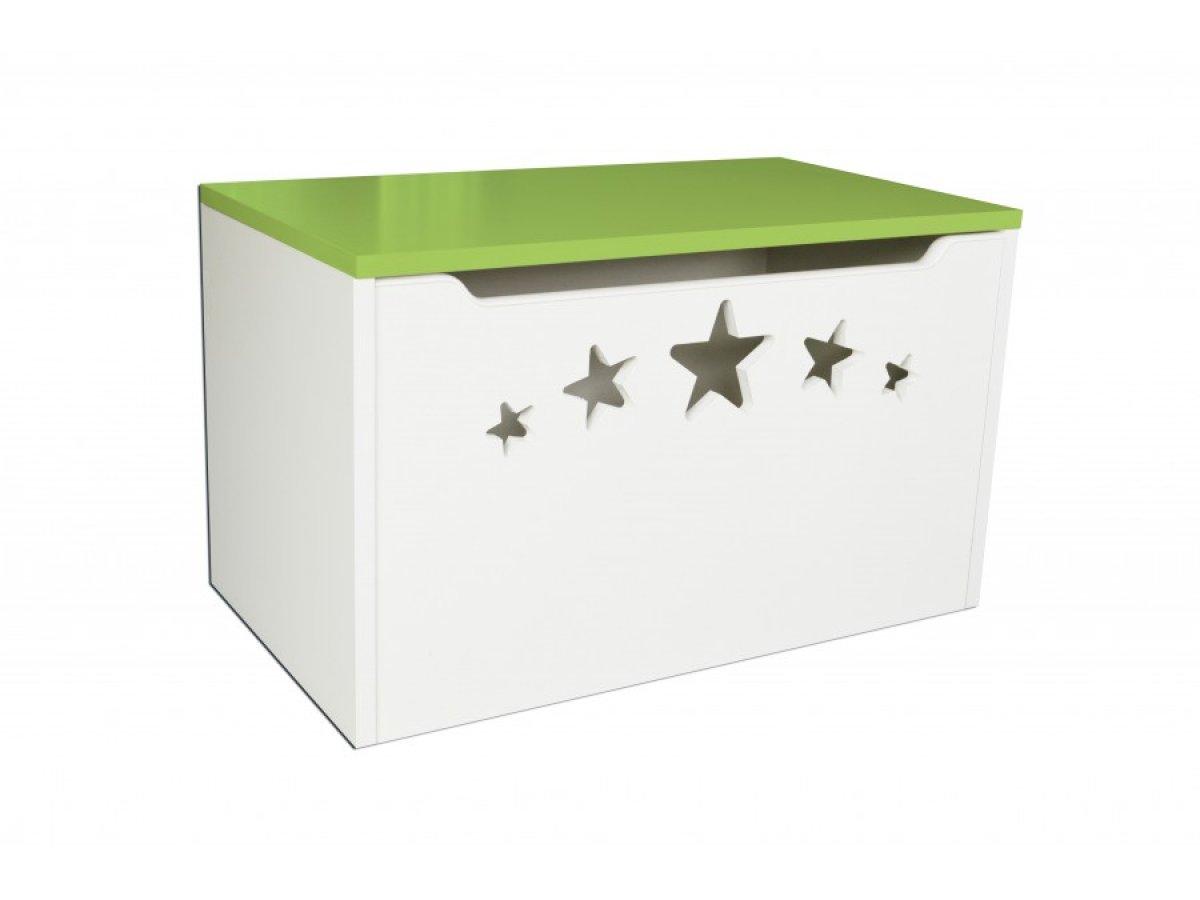 Box na hračky hvězdy zelené