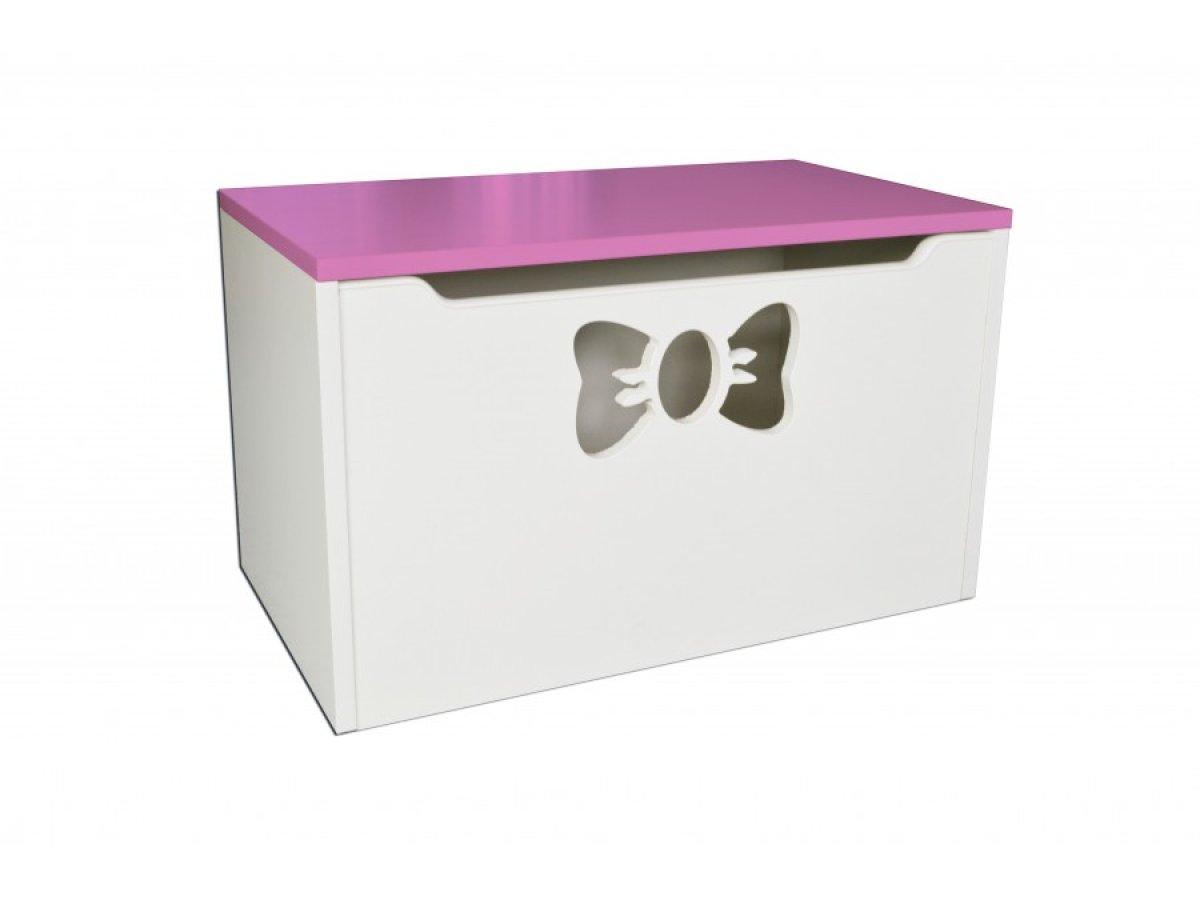 Box na hračky - mašle růžová