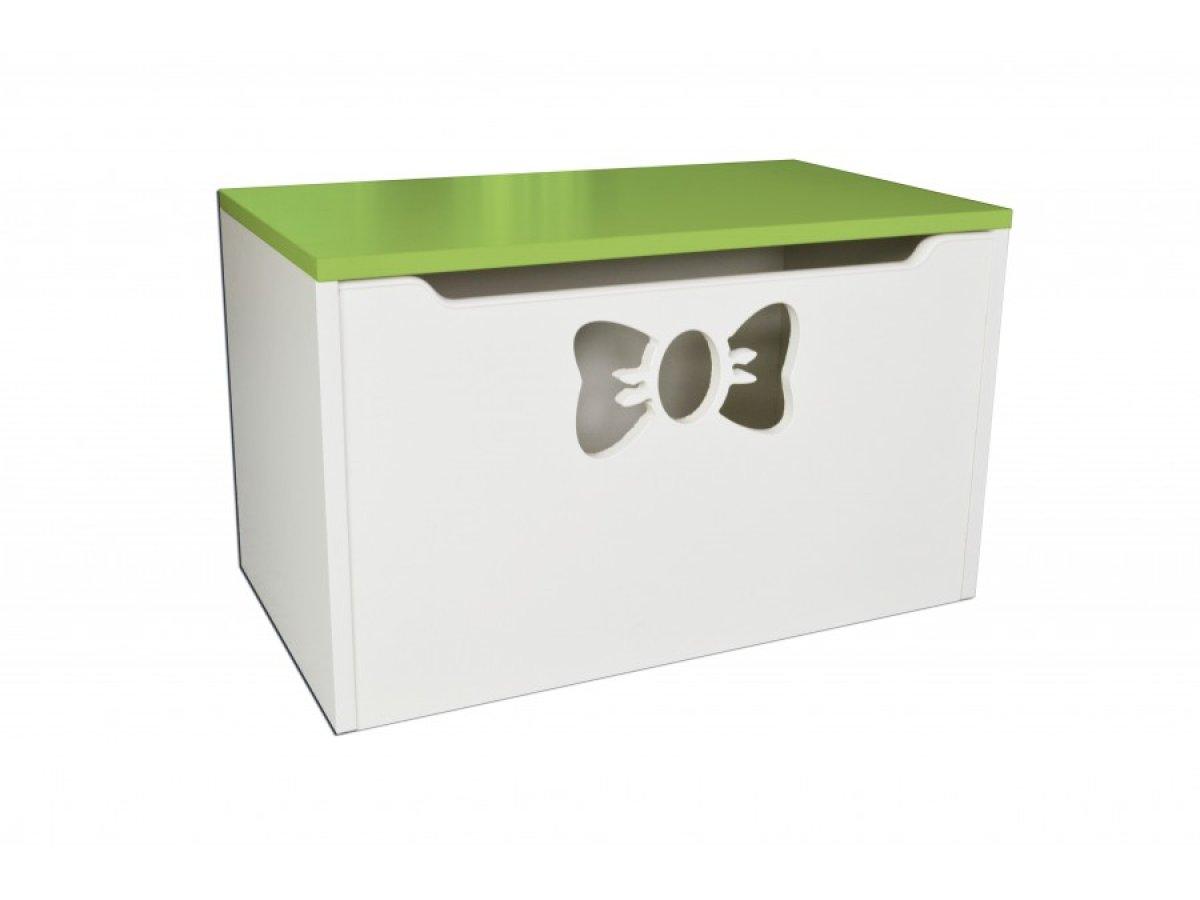 Box na hračky - mašle zelená
