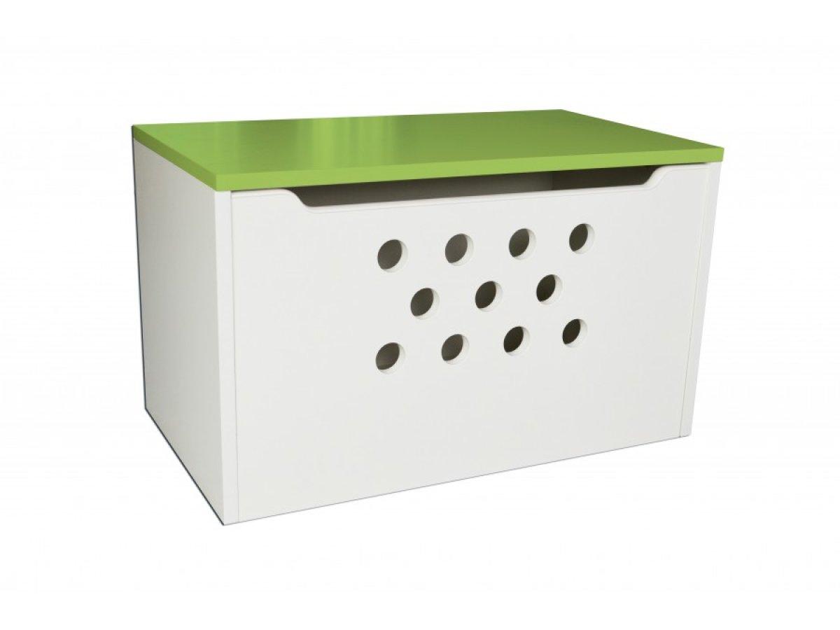 Box na hračky kolečka zelená