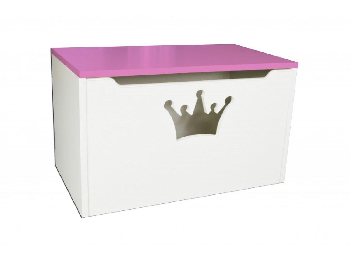 Box na hračky - koruna růžová