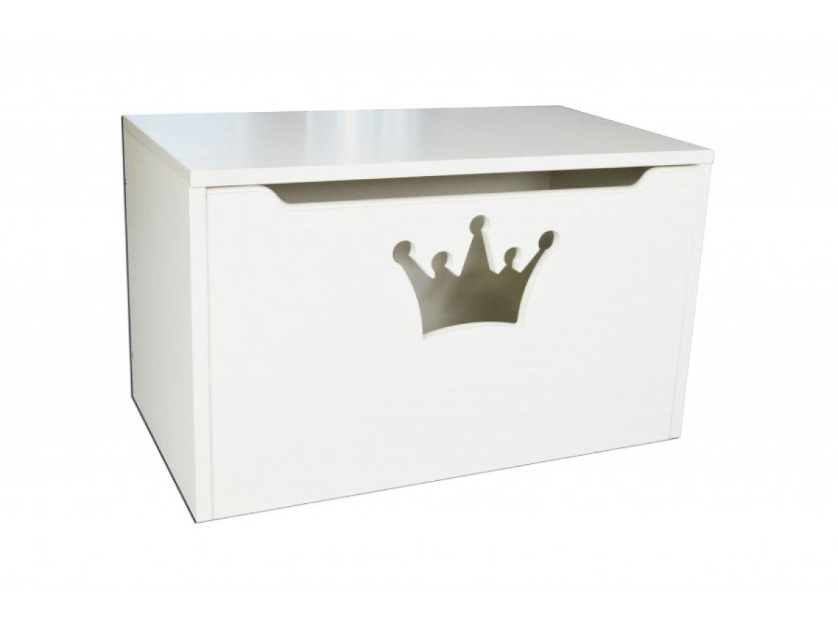 Box na hračky koruna bílá