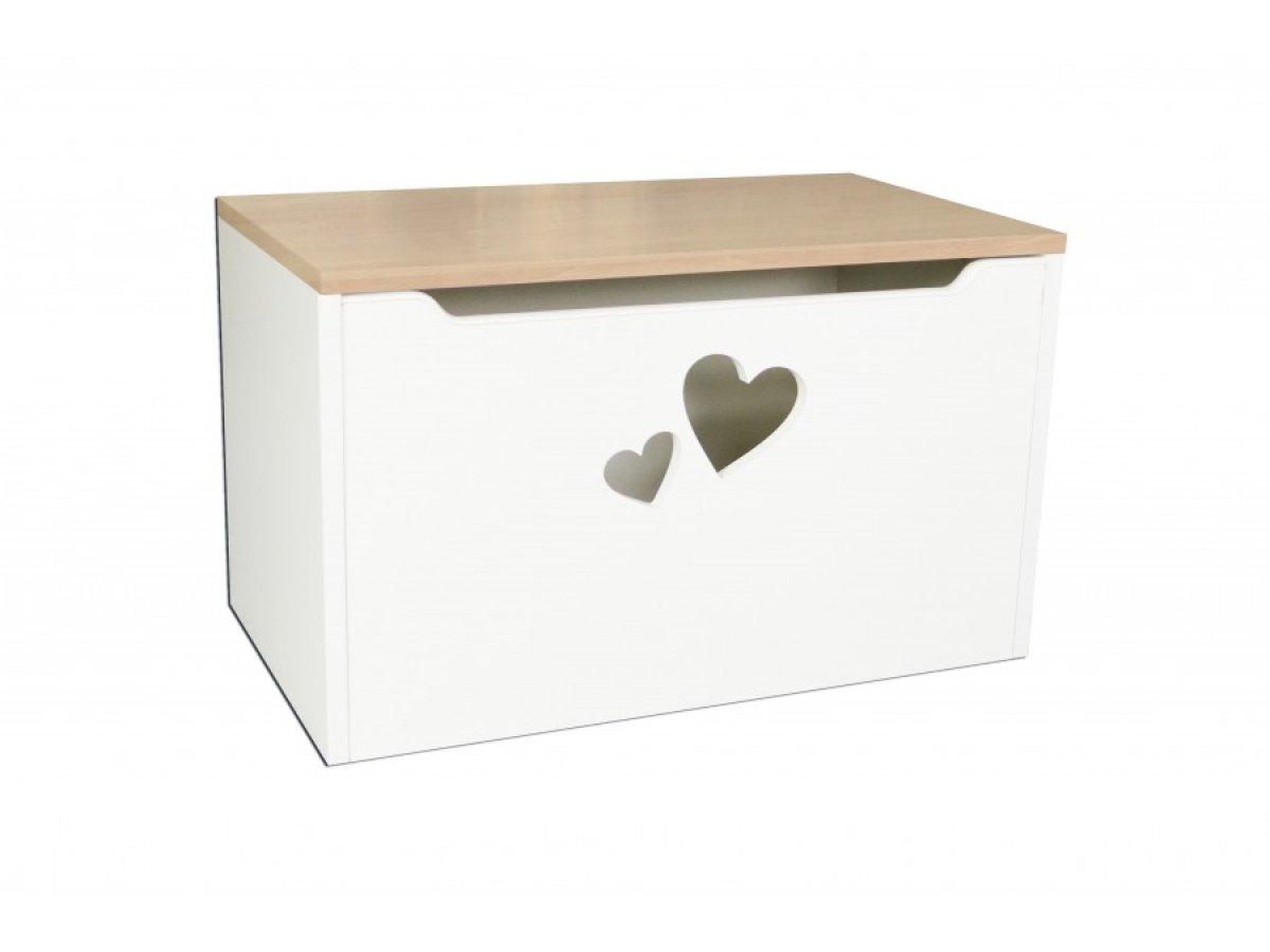 Box na hračky - srdce hruška