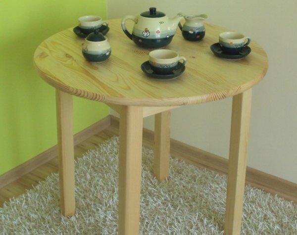 Stůl z masivu borovice 80 cm