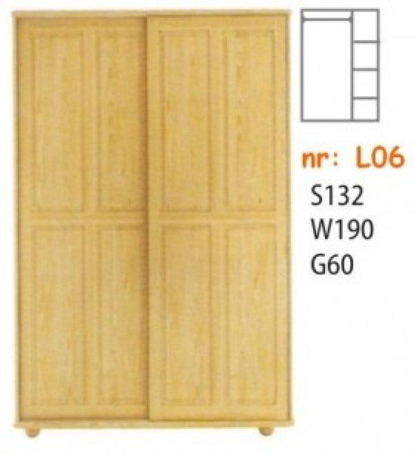 Skříň masiv borovice L06 posuvné dveře