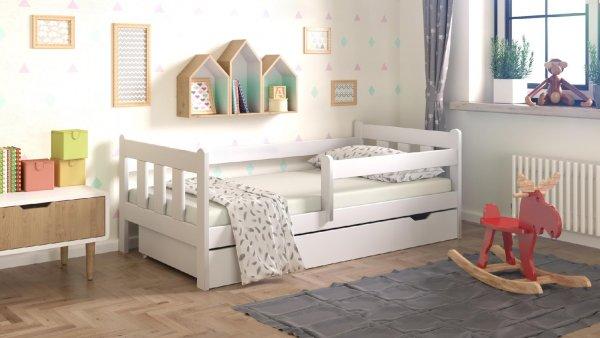 Dětská postel Irma 180x80 cm + šuplík + matrace - bílá