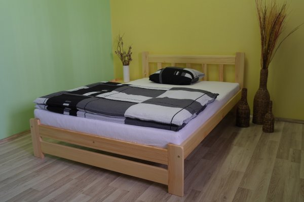 Postel Máša 140/200 cm masiv borovice + rošt