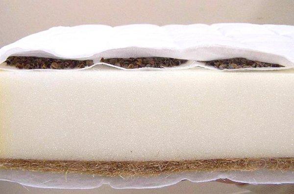 Matrace pohanka - molitan - kokos - 120x60x9 cm
